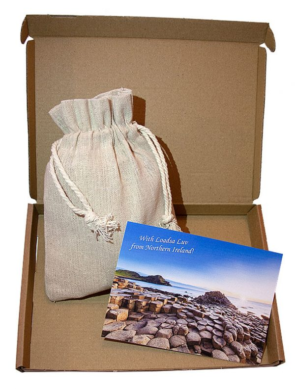 Northern Irish Shortbread in a Linen Bag