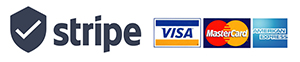Stripe Visa, Mastercard and American Express