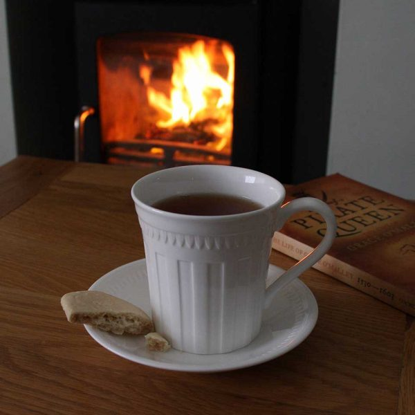 shortbread by the fire
