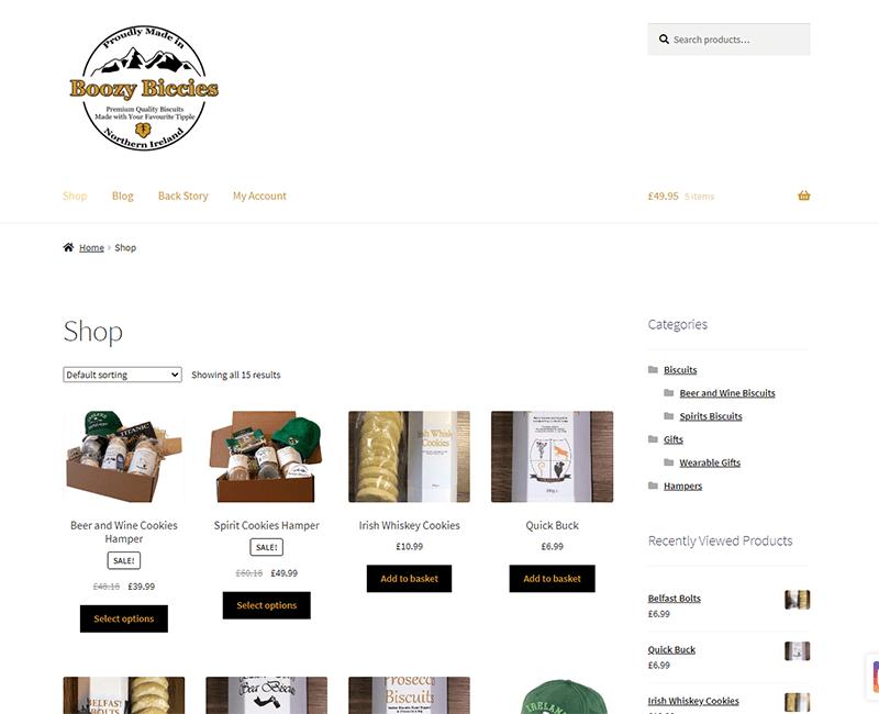 Boozy Biccies website