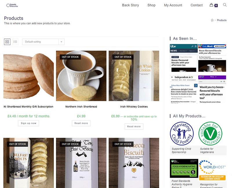 Iconic Biscuits website