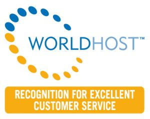 WorldHost Badge